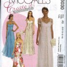 McCall's Sewing Pattern 6030 Misses Size 6-14 Formal Wedding Bridal Prom Gown Dress Overskirt