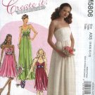 McCall's Sewing Pattern 5806 Misses Size 4-12 Formal Wedding Bridal Prom Gown Dress Strapless