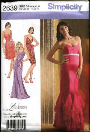 Sewing Pattern 2639 Misses Size 12-20 Formal Evening Prom Dress ...