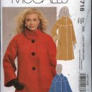 McCall's Sewing Pattern 5718 Misses Size 8-16 Lined Winter Jackets Coats