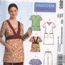 McCall's Sewing Pattern 5895 Womans Plus Size 18W-24W Scrub Uniform Tops Dress Pants Nurse