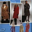 Simplicity Sewing Pattern 2311 Misses Size 4-12 Project Runway Single Double Breasted Wrap Coat