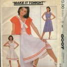 McCall's Sewing Pattern 8007 Misses Size 6-10  Sleeveless Pullover Dress Short Sleeve Jacket