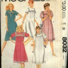 McCall's Sewing Pattern 8032 Misses Size 12 Loose Fitting Short Sleeve Yoke Dress Early Maternity