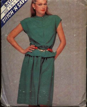 McCall�s Sewing Pattern 8417 Misses Size 6-10 Two Piece Dress Sleeveless Top Gathered Skirt