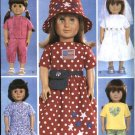 """Butterick Sewing Pattern 3875 18"""" Doll Clothes Wardrobe Wedding Dress Top Skirt Pants Hat"""