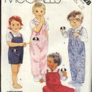 McCall's Sewing Pattern 2728 Toddlers Boys Girls Size 1-2-3  Long Overalls Romper Shirt Toy