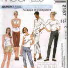 McCall&#39;s Sewing Pattern 2157 Misses Size 14-16-18 Easy Fitted Slim Long Pants Shorts Pedal Pushers