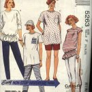 McCall's Sewing Pattern 5263 Misses Size 16-20 Easy Maternity Knit Wardrobe Tops Pants Shorts