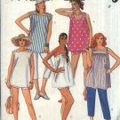 McCall's Sewing Pattern 2039 Misses Size 8 Easy Maternity Summer Tops Shorts Cropped Pants