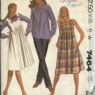 McCall's Sewing Pattern 7464 Misses Size 6 Maternity Jumper Dress button Front Shirt Pants