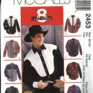 "McCall's Sewing Pattern 2453 Mens Size XXLarge 50-52"" Chest Easy Western Style Shirts"
