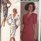 Butterick Sewing Pattern 4089 Misses Size 8-10-12 Easy Short Long Sleeve Mock Wrap Dress