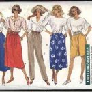 Butterick Sewing Pattern 4137 B4137 Misses Size 16-22 Easy Classic Skirts Long Pants Shorts Culottes