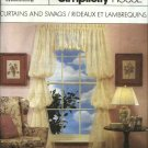 Simplicity House Sewing Pattern 8996 Café Curtains Swags Valances Panels Tie-Backs