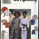 Simplicity Sewing Pattern 8438 Boys Girls Size 5-8 Martial Arts Scrub Karate Uniforms Pajamas