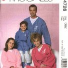 McCall's Sewing Pattern 4726 P299 Family Sleepwear All Sizes Front Wrap Robes Pants Socks Blanket