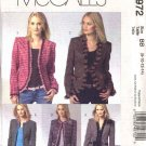 McCall's Sewing Pattern 4972 Misses Size 8-14 Lined Cardigan Jackets Trim Variations