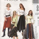McCall's Sewing Pattern 4245 Misses Size 8-14 Handkerchief Hemline Gored Color Blocked Skirts