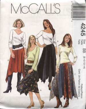 Vintage McCalls Sewing Pattern 3800 Boho Maxi Skirt Pants Fitted