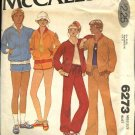 Retro McCall's Sewing Pattern 6273 Misses Size 12 Exercise Wardrobe Windbreaker Pants Shorts T-Shirt