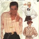 Retro McCall's Sewing Pattern 2079 Misses Size 10 Long Sleeve Button Tucks Front Big Shirts
