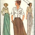 Vogue Sewing Pattern 7042 Misses Size 16 Easy Classic Short Long A-Line Skirts Pants