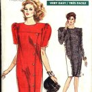 Vogue Sewing Pattern 7246 Womens Half Size 20 ½ - 24 ½ Easy Dress Long Short Sleeves