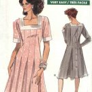 Vogue Sewing Pattern 7528 Misses/Half Sizes 20-24 Easy Button Back Flared Dress Sleeve Options