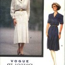 Vogue Sewing Pattern 7583 Misses Size 18-22 Easy Classic Button Front Shirtwaist Dress