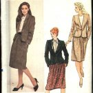 Vogue Sewing Pattern 8106 Misses Size 14 Classic Lined Long Sleeve Jacket Skirt Suit