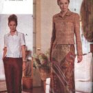 Vogue Sewing Pattern 9655 Misses Size 12-16 Easy Mock Wrap Skirt Pants Button Front Top Jacket