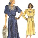 Vogue Sewing Pattern 9936 Misses Size 20-24 Easy Two-Piece Dress Button Front Blouse Skirt