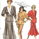 Vogue Sewing Pattern 9967 Misses Size 8 Straight Flared Skirt Uniquely Pieced Long Sleeve Top