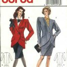 Burda Sewing Pattern 4918 Misses Size 10-20 Suit Lined Straight Skirt Button Closure Jacket