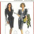 Burda Sewing Pattern 5194 Misses Size 12-22 Two Piece Dress Peplum Blouse Straight Skirt