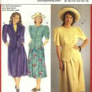 Burda Sewing Pattern 5412 Misses Size 8-16 Pleated Full Skirt Button Front Jacket