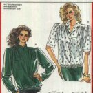 Burda Sewing Pattern 5821 Misses Size 10-22 Blouson Blouse Elastic Waistband Sleeve Options