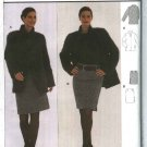 Burda Sewing Pattern 8554 Misses Size 10-22 Long Sleeve Jacket Straight Skirt Side Zipper Suit