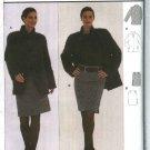 Burda Sewing Pattern 8554 Misses Size 10-22 Long Sleeve Jacket Straight Skirt Side Zipper Suit