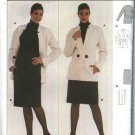 Burda Sewing Pattern 8555 Misses 10-22 Suit Long Sleeve Jacket Straight Pleated Skirt