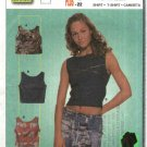 Burda Sewing Pattern 8609 Misses Size 10-22 Easy Sleeveless Pullover Tank Top T-Shirt