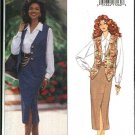 Butterick Sewing Pattern 3016 Misses Size 18-22 Easy Button Front Vest Shirt Straight Skirt