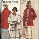 Butterick Sewing Pattern 3076 Misses Size 14 Evan-Picone Suit Jacket Skirt Dolman Sleeve Top