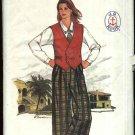 Butterick Sewing Pattern 3102 Misses Size 10 J G Hook Wardrobe Vest Shirt Culottes Skirt