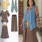 Simplicity Sewing Pattern 2195 Misses Size 10-18 Khaliah Ali Wardrobe Skirt Pants Top Knit Vest