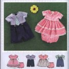 Simplicity Sewing Pattern 2264 Baby Infant Girls Boys Size XXS-L Dress Panties Romper Adorable