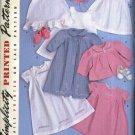 Simplicity Sewing Pattern 2629 Babies Infants Girls Size XXS-L Layette Dress Slip Bonnet Coat