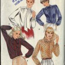 Butterick Sewing Pattern 3319 Misses Size 16 Button Front Pullover Long Sleeve Tie Blouses