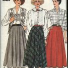 Butterick Sewing Pattern 3341 Misses Size 8-12 Easy Bias Half Full Circle Skirts